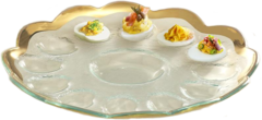 Annieglass Roman Antique Deviled Egg Platter (G216)