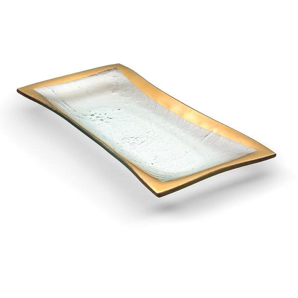 Annieglass Roman Antique Olive Tray (G143)