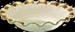 Annieglass Ruffle Large Salad Bowl (G211)