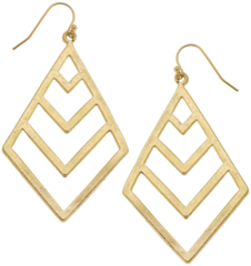 Susan Shaw Jewelry Gold Filigree Cut Out Earrings (1250G)