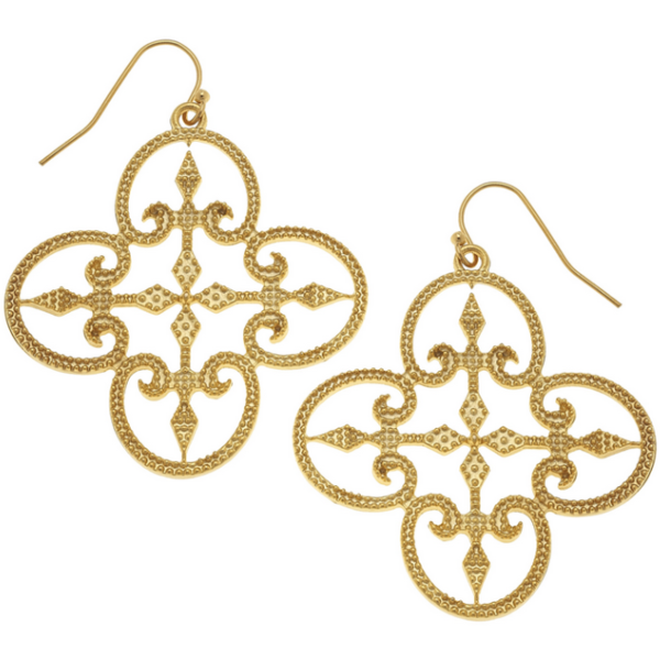 Susan Shaw Jewelry Gold Filigree Earrings (1056G)