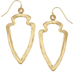 Susan Shaw Jewelry Gold Cut Out Earrings (1528G)