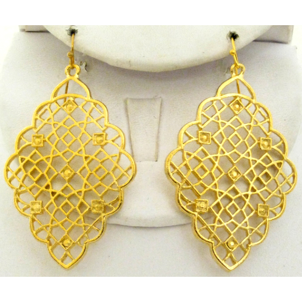 Susan Shaw Jewelry Gold Filigree Earrings Lewis Gifts