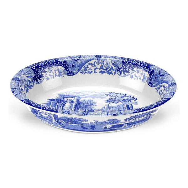 Spode by Portmeirion > Blue Italian > Oval Rim Dish