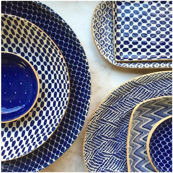 Terrafirma Ceramics > Cobalt > Maze Asparagus Tray
