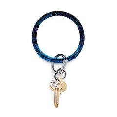 O-Ring Keychain Big O Key Ring - Blue Lagoon Snakeskin