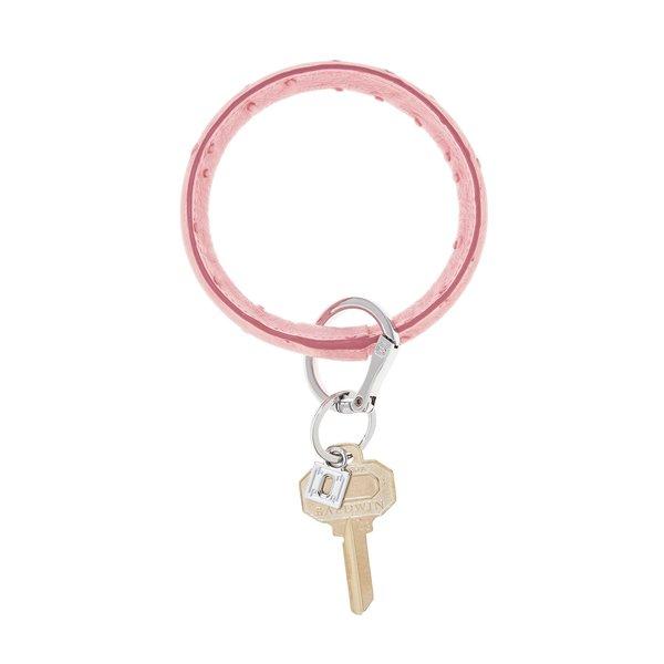 O-Ring Keychain Big O Key Ring - Dusty Rose Ostrich