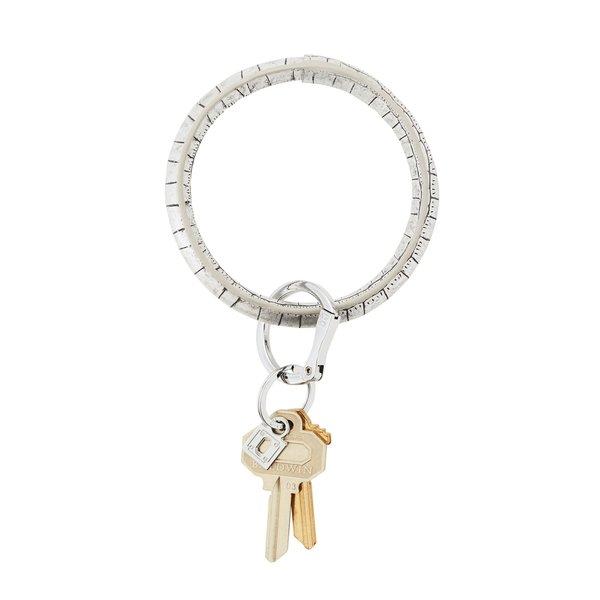O-Ring Keychain Big O Key Ring - Platinum Croc