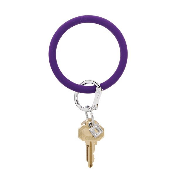 O-Ring Keychain Big O Key Ring - Deep Purple Silicon