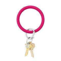 O-Ring Keychain Big O Key Ring - I Scream Pink Silicon