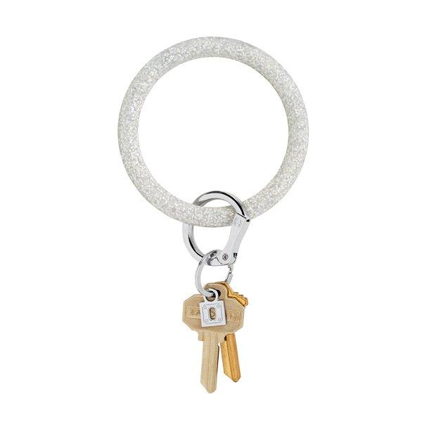 O-Ring Keychain Big O Sport Key Ring - Silver Confetti