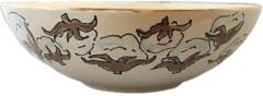 Magnolia Creative Cotton Serving Bowl with Gold Trim
