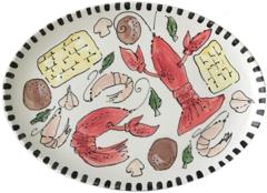 Magnolia Creative Crawfish Ceramic Oval Platter