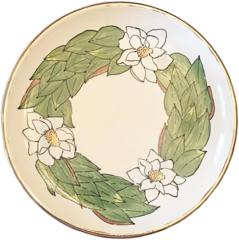 Magnolia Creative Magnolia Round Platter with Gold Trim