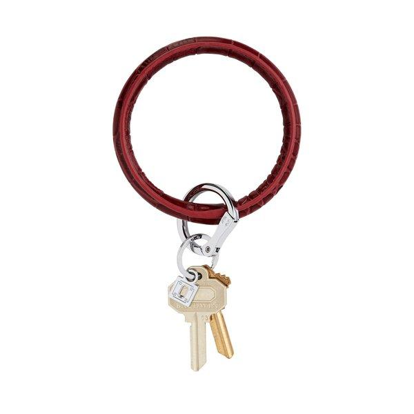 O-Ring Keychain Big O Key Ring - Merlot Croc