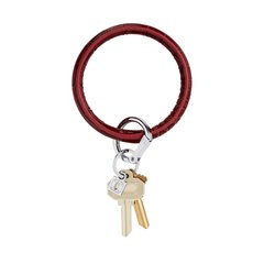 O-Ring Keychain Big O Key Ring - Merlot Croc