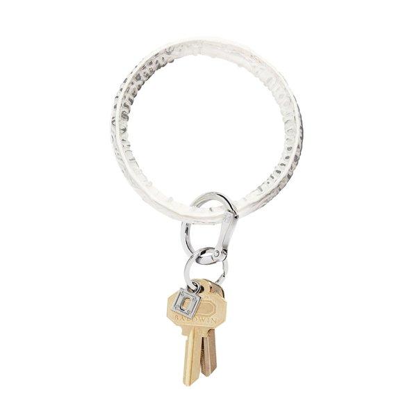 O-Ring Keychain Big O Key Ring - Quicksilver Croc