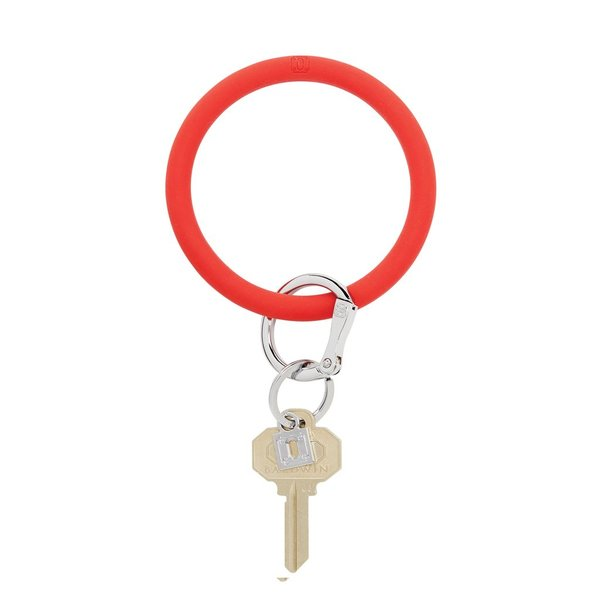O-Ring Keychain Big O Key Ring - Cherry on Top Silicone