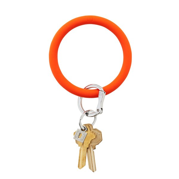 O-Ring Keychain Big O Key Ring - Orange Crush Silicone