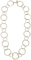 """Susan Shaw Jewelry 30"""" Gold Ring Necklace (3988LG)"""