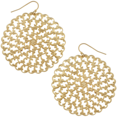 Susan Shaw Jewelry Round Gold Filigree Earring (1847)