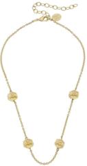 Susan Shaw Jewelry Gold Bee Beads & Chain Choker  (3381G)