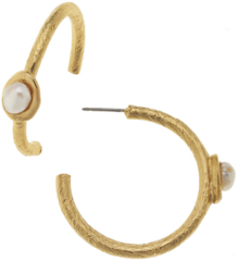 Susan Shaw Jewelry Gold with Freshwater Pearl Earrings (1166WG)