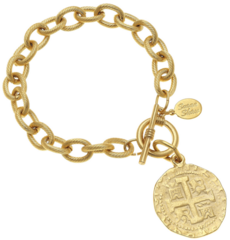 Susan Shaw Jewelry Gold Coin Bracelet (2510CR)