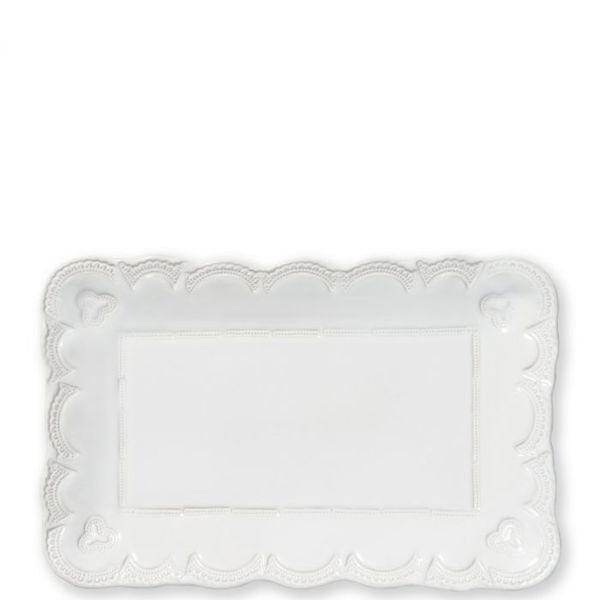 Vietri > Incanto Stone White > Lace Small Rectangular Platter