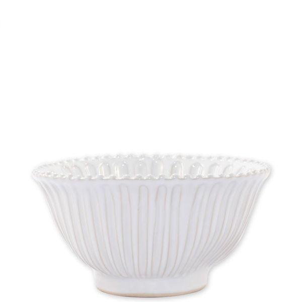 Vietri > Incanto Stone White > Stripe Small Serving Bowl
