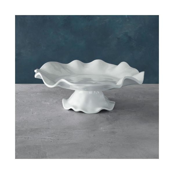 Beatriz Ball > Vida Havana White Melamine > Pedestal Cake Plate