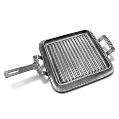 """Wilton Armetale Gourmet Grillware Square Griddle with Handles - 9"""""""