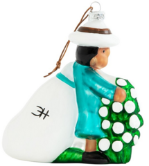 Clementine Hunter Cotton Picking Figurine Christmas Ornament (CH-8200)