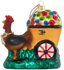 Clementine Hunter Gooster Hauling Flowers Figurine Christmas Ornament (CH-8100)