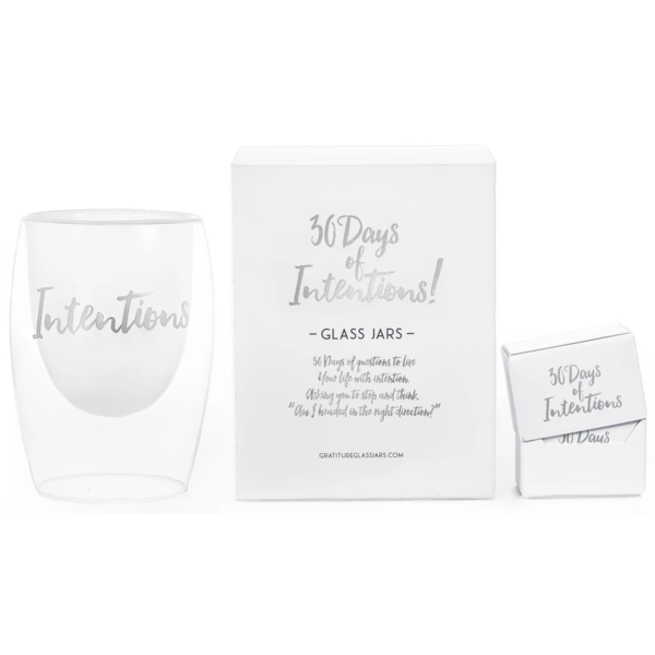 Gratitude Glass Jars 30 Days of Intentions Glass Jar