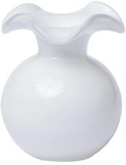 Vietri Hibiscus Glass White Bud Vase