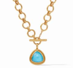 Julie Vos Barcelona Statement Necklace - Iridescent Pacific Blue