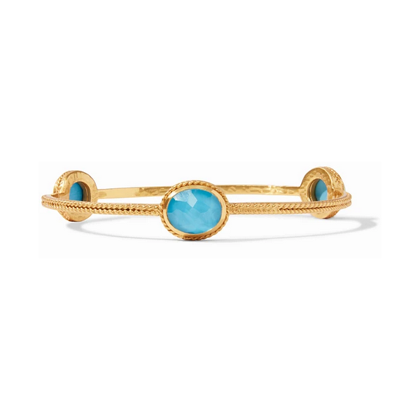 Julie Vos Calypso Bangle - Iridescent Pacific Blue