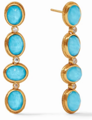 Julie Vos Calypso Statement Earring - Iridescent Pacific Blue