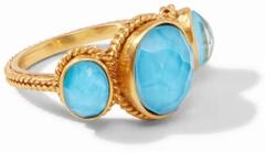 Julie Vos Calypso Ring - Iridescent Pacific Blue
