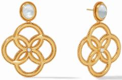 Julie Vos Chloe Earring Iridescent Clear Crystal