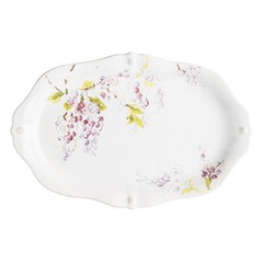 "Juliska Berry and Thread Floral Sketch Wisteria 16"" Platter (FB119D/88)"