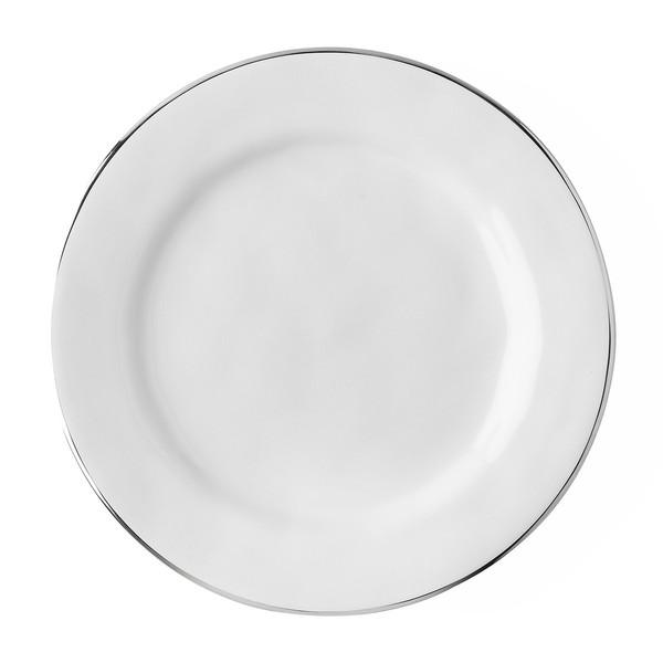 Juliska Puro Whitewash Dessert/Salad Plate with Platinum Rim (KS02/15)