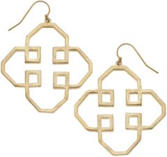 Susan Shaw Jewelry Geo Outline Earrings