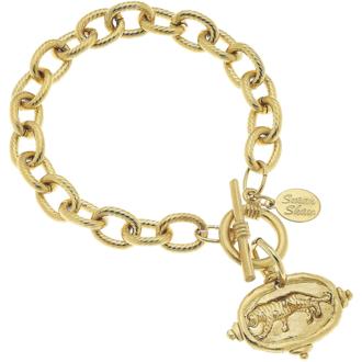 Susan Shaw Jewelry Tiger Intaglio Bracelet