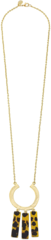 Susan Shaw Jewelry Geometric Tortoise Bar Necklace