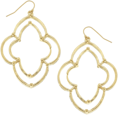 Susan Shaw Jewelry Dotted Scallop Earrings