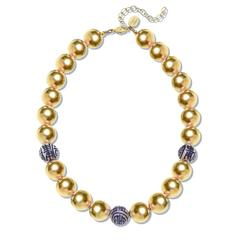 Susan Shaw Jewelry Blue and White Margaret Necklace (3300G)