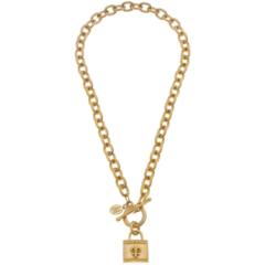 Susan Shaw Jewelry Fleur De Lis Chain Necklace (3770F)