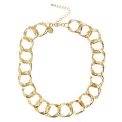 Susan Shaw Jewelry Ellis Hammered Chain Necklace (3805G)